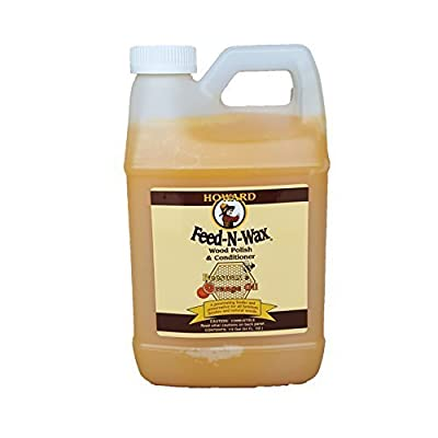 Howard Feed-N-Wax Restorative Wood Polish and Conditioner 64oz 1/2 Gallon, Polish Wood Floors, Antique Furniture Restoration, Wood Furniture