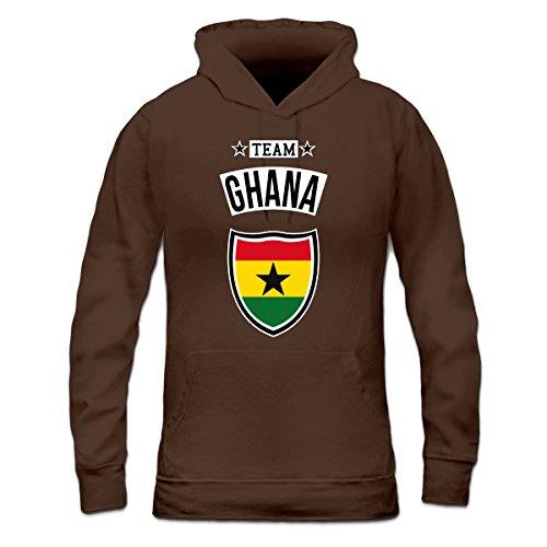 Sudadera con capucha de mujer Team Ghana by Shirtcity Marrón