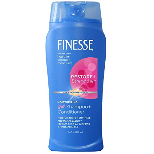 Price comparison product image Finesse 2 in 1 Restore + Strengthen, Moisturizing Shampoo and Conditioner 24 oz (Pack of 5)