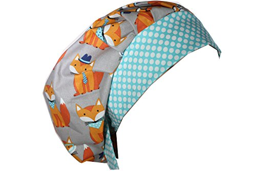 Gray Scrub Cap - Scrub Hat Chemo Cap Bouffant Style MANY Color Options Available (Smart Fox)