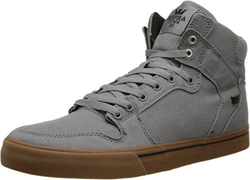 Supra Unisex Vaider Storm Grey/Gum Sneaker Men's 13 D – Medium