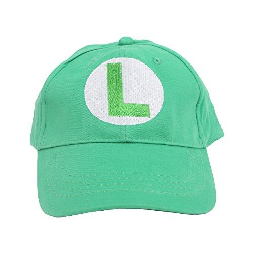 Update Version V3 Super Mario Bros Unisex Baseball Hat Cap Luigi Hat (Green Luigi Hat)