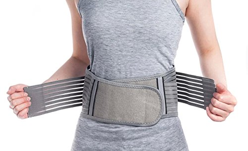Zcargel Adjustable Elastic Bamboo Charcoal Fiber Medical Grade Exercise Brace,Double Pull Straps Lumbar Support Belt Brace,Lumbar Disc Herniation,Muscle Strain,Back Pain Protector for Women and Men by Zcargel