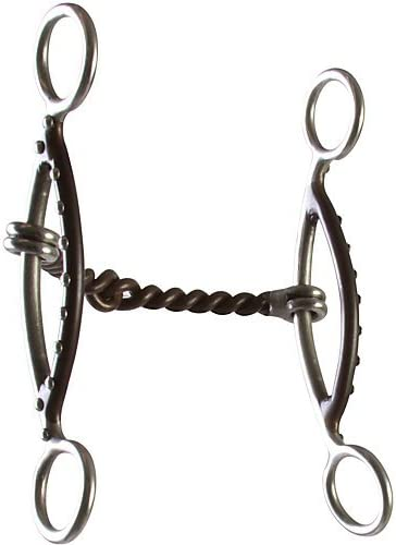 Aime Imports Westen SS Twisted Wire Sliding Short Gag Bit