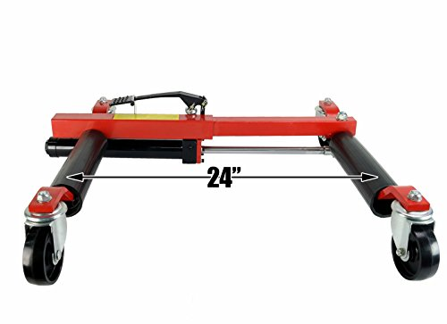 (4) Dragway Tools 12'' Hydraulic Wheel Dolly Vehicle Positioning Jack Lift Hoist with 1500 lb Capacity by Dragway Tools (Image #6)