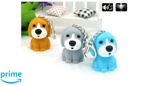 Llavero con LED y sonido para cachorro de perro, color gris ...