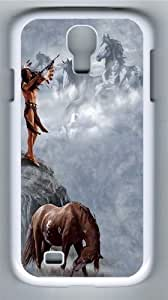 The Offering Native American Polycarbonate Hard Case Cover for Samsung Galaxy S4/Samsung Galaxy I9500 White