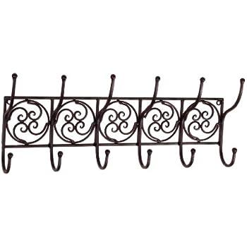 This Item Tuscan Wrought Iron Metal Wall Hook Coat Rack Towel Holder