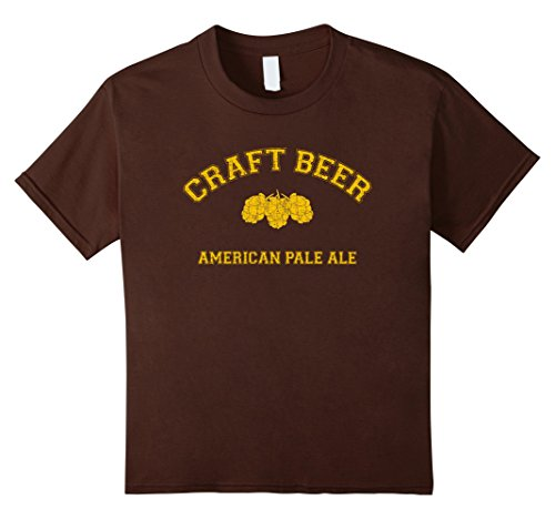 American Brown Ale (Kids Classic College-style CRAFT BEER AMERICAN PALE ALE T-Shirt 12 Brown)