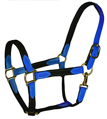 Perris Leather Beta Cotton Safety Halter, Royal Black, - Perris Leather Cotton