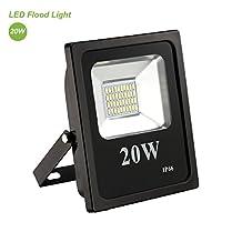 Flood Light,TryLight 20W 5000K Daylight White, 1610lm, 200W Halogen Bulb Equivalent,Waterproof Outdoor LED Flood Light for Garden,Yard