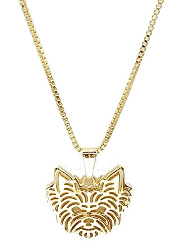 ANAi's Jewelry Box Yorkshire Terrier Pendant Necklace Yorkie Dog Lovers Gold Color 17