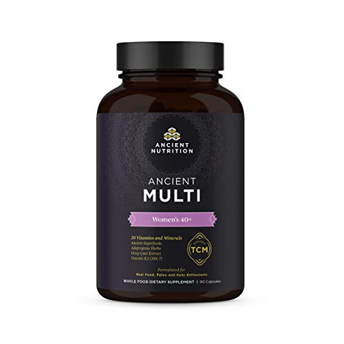 Ancient Nutrition, Ancient Multi Women s 40 – 20 Vitamins Minerals, Adaptogenic Herbs, Paleo Keto Friendly, 90 Capsules