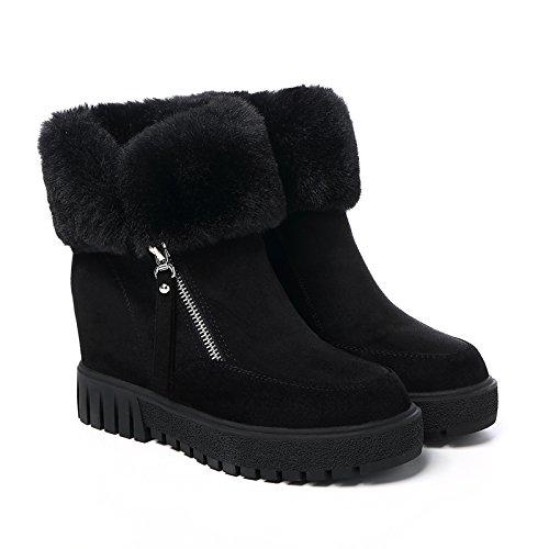 Terciopelo Algodón 35 Mujer Zapatos De Para Grueso 40 Botas Agecc Black You Invierno Luck For Cortas Cortas Fondo Con Good Y E6nvqW