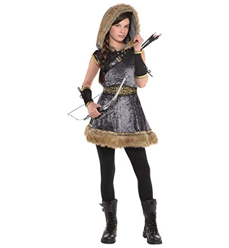 Robin Costume For Girls (AMSCAN Miss Archer Halloween Costume for Girls, Large, with Included)