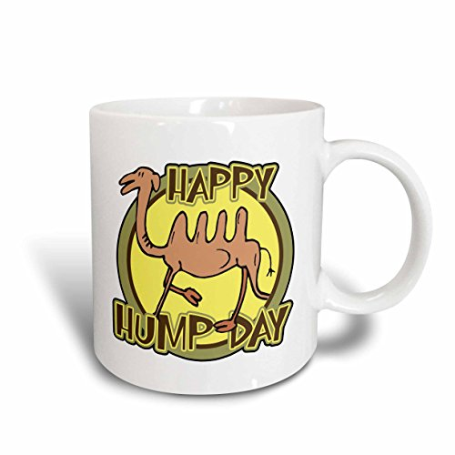 3dRose (mug_159497_2) Funny Happy Hump Day Camel Cartoon Design - Ceramic Mug, 15-ounce