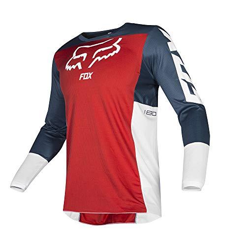 (Fox Racing 2019 180 Przm Jersey-Navy/Red-XL)