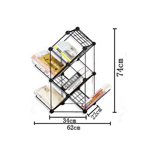 LQQGXL Storage and organization Fashionable combination of tree-shaped children's bookshelf writing finishing racks floor newspaper display stand (Size : 62x74cm) by LQQGXL