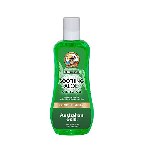 Australian Gold Soothing Aloe Vera After Sun Gel, Natural Sunburn Pain Relief, Works to Relieve Hot & Itchy Skin, Reef Safe Aloe, Cruelty Free, PABA Free, Paraben Free, Alcohol Free, 8 Ounce (Plant Green Aloe Vera)