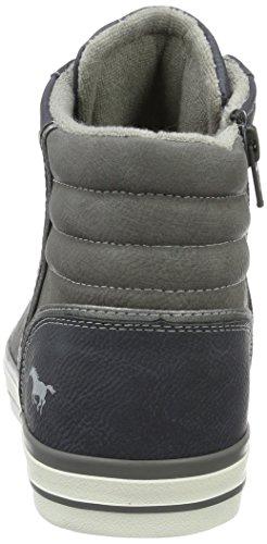 Dunkelblau Uomo Top High Sneaker Sneaker Mustang Blu Alte 7gqf4pw