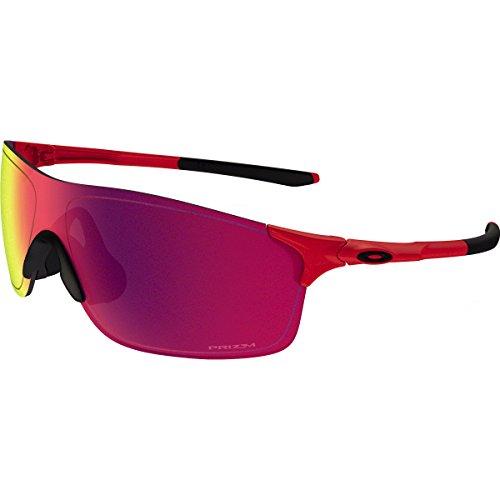 Oakley Men's Evzero Pitch Non-Polarized Iridium Rectangular Sunglasses, Redline, 38 - Polarized Red Oo Iridium