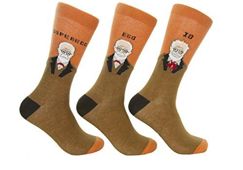 Culture Sock Women's Men's Sigmund Freud Socks (3 individual mismatched socks!) from Culture Sock