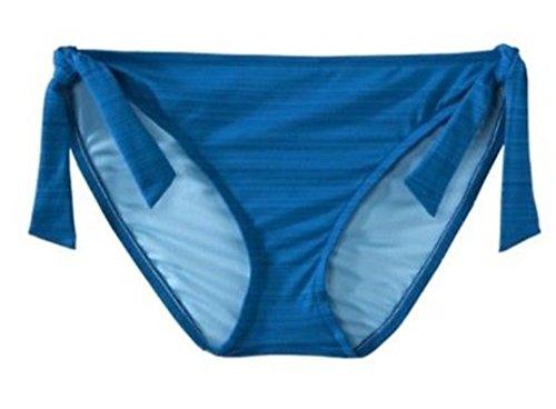 Mossimo Women's/Juniors Blue Bikini Swimsuit Bottom w/Mock Side Ties (Mossimo Swim Bottom)