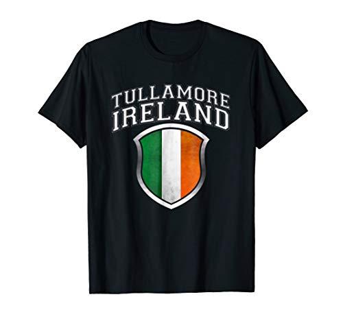 (Tullamore Ireland T Shirt with Grunge Irish Flag Crest)