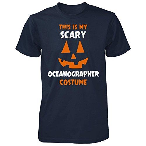 Oceanographer Costume (This Is My Scary Oceanographer Costume Halloween Gift - Unisex Tshirt Navy 3XL)