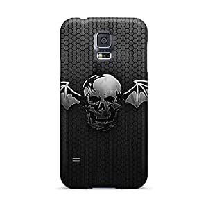 Shock Absorbent Hard Cell-phone Case For Samsung Galaxy S5 With Provide Private Custom High-definition Avenged Sevenfold Series ColtonMorrill
