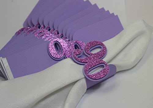 All About Details Purple 90 Napkin Holders, 12Pcs