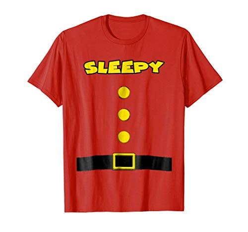 Sleepy Dwarf Halloween Costume Sleepy Dwarf T-shirt Sleepy -