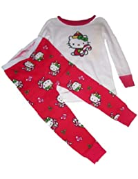 Hello Kitty Christmas Holiday Long Pants/Sleeve Pajama Set