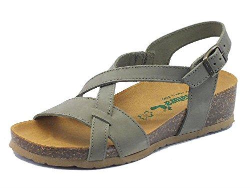 BioNatura 12a826 Nabuk Fango - Sandalias de vestir de Piel para mujer barro