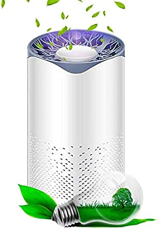Phiraggit Purificador de Aire, Filtro de carbón Activado, desinfección UV, filtrado eficiente para un Rendimiento del Filtro del 99.99% y luz Nocturna, contra el Olor a Polen de Polvo