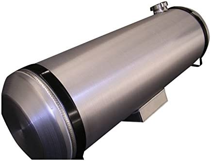 Made in the USA! 3//8 NPT 13.5 Gallon 10x40 End Fill Round Spun Aluminum Gas Tank with Site Gauge