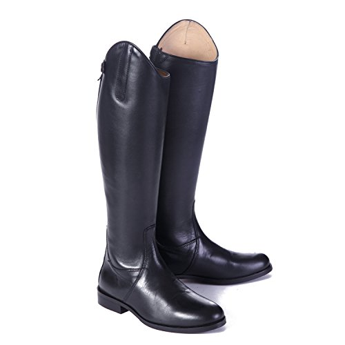 6 Long Boots Shires Leather Black Adults Norfolk Medium 0BxUzgwx