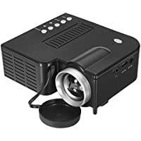 CoCocina Micro UC28B 400 Lumens 1920 x 1080 LED Mini Multimedia Portable Projector Home Cinema TF USB -Black