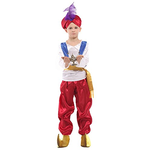 [Aove Children's Halloween Cosplay Costume Aladdin Suit] (Aladdin Costume For Boy)
