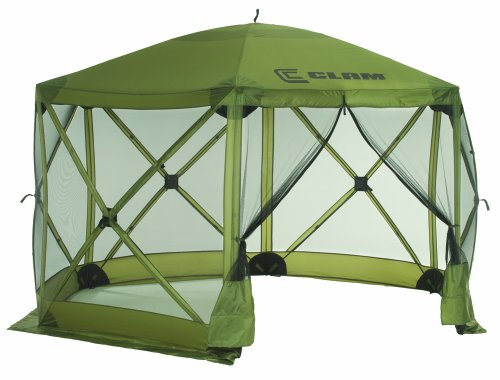 Clam Corporation 9281 Quick-Set Escape Shelter, 140 X 140-Inch, Forest Green