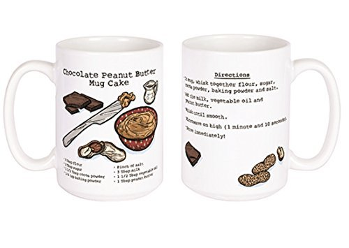 Chocolate Peanut Butter Cake Recipe Ceramic Coffee Mug, 14 oz