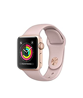 Apple SmrtWatc 26 - 42mm Watch Series 3 - GPS - Gold Aluminum Case with Pink Sand Sport Band - 42mm