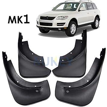 XUKEY - Juego de 4 Protectores de Salpicaduras para VW Touareg 1 Mk1 2004-2010: Amazon.es: Coche y moto