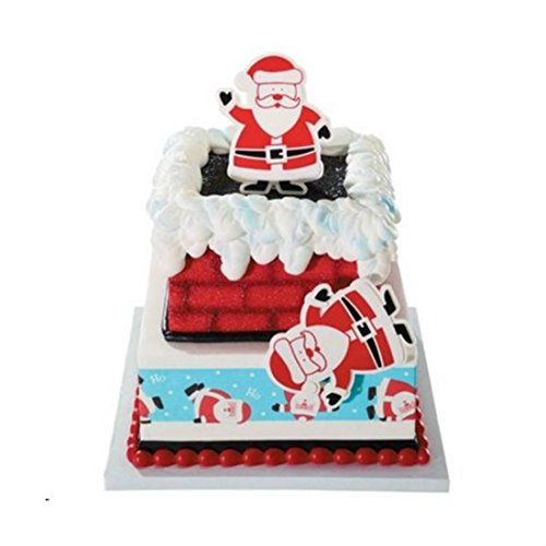 """1 Santa Cake Topper Party Christmas Decorate St Nick Cupcake Dessert Gift Red 4"""" x 3.5"""" from Unknown"""