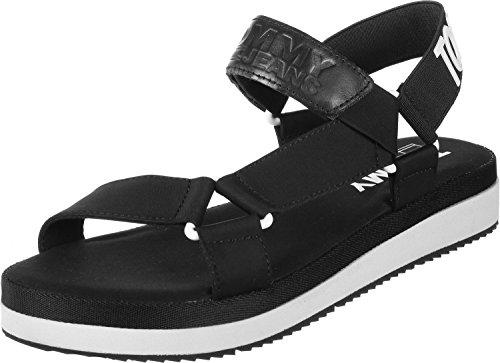 990 Tommy Hilfiger En0en00219 Nero Sandalss trqx0OwRr