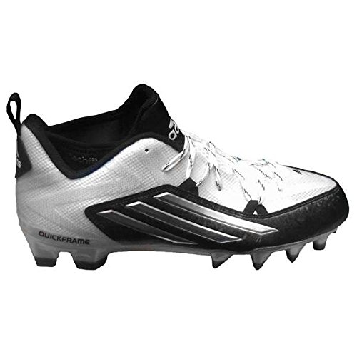 adidas Men's Crazyquick 2.0 Football Cleats (10.5, White/Platinum/Core Black)