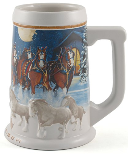 Budweiser Clydesdale Collectible Holiday Stein