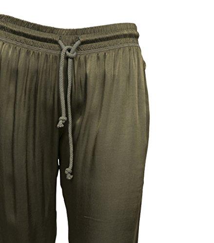 GWYNEDDS Damen Hose Velvet The Pants in Grün Olive 5vCqlxnYs