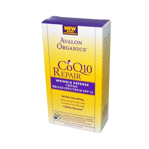 New - Avalon Organics CoQ10 Repair Wrinkle Defense Creme SPF 15 - 1.75 oz