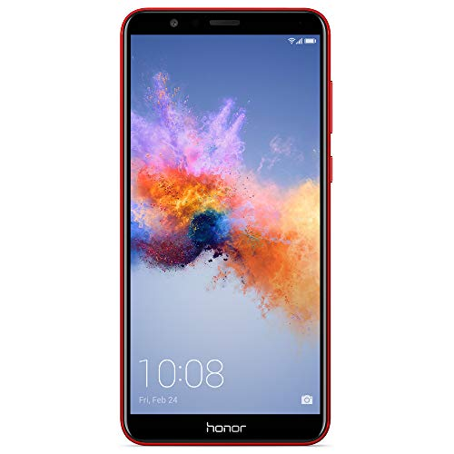 Honor 7X GSM Unlocked Smartphone 5.93 FullView Display, 16MP + 2MP Dual-Lens Camera, Dual SIM, Expandable Storage, Red (US Warranty)